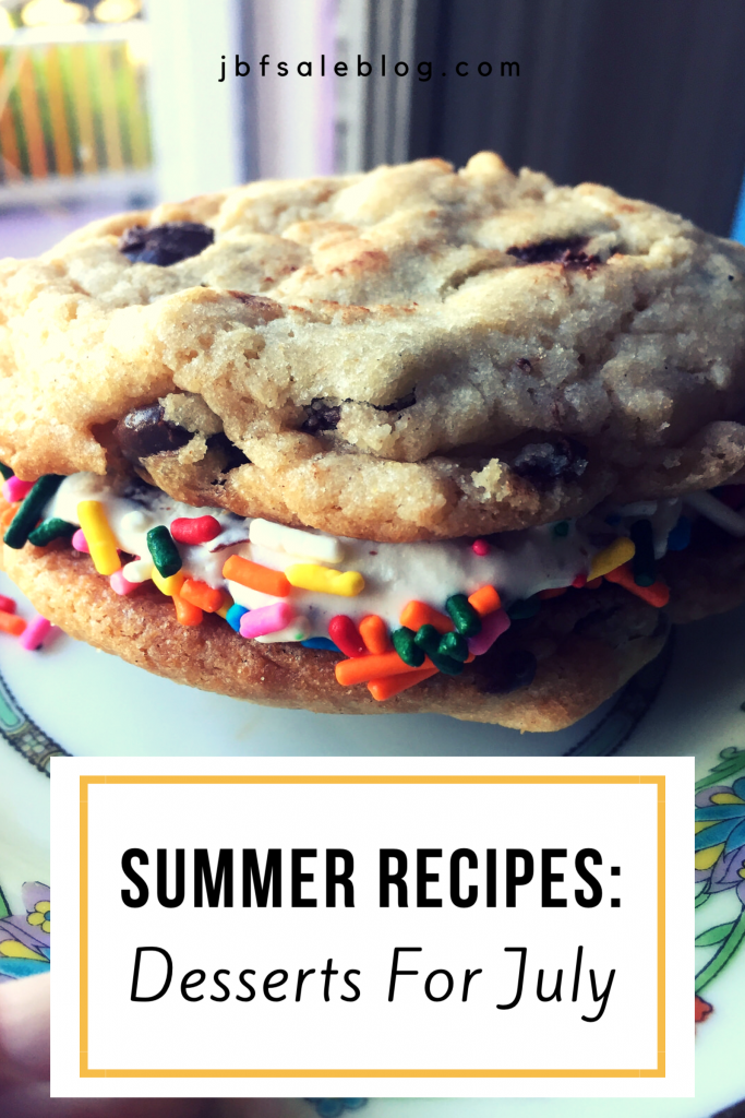 Summer Recipes: Desserts for July