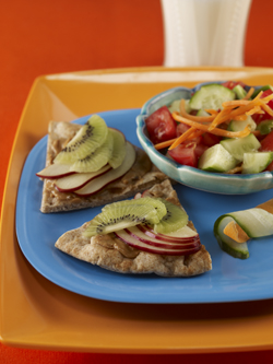 Fruity Pita Sandwiches & Tossed Salad