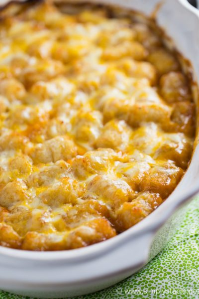 Mexican Style Tater Tot Casserole the Whole Family Will Love