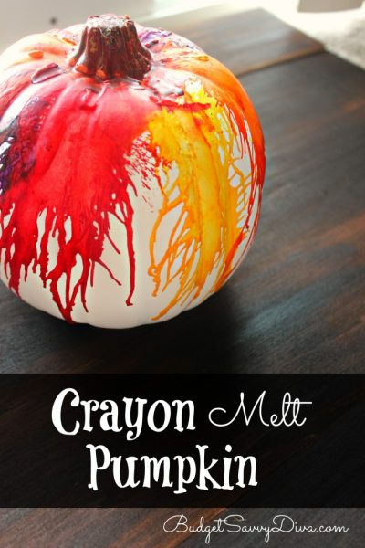 October Craft: Melted Crayon Pumpkins