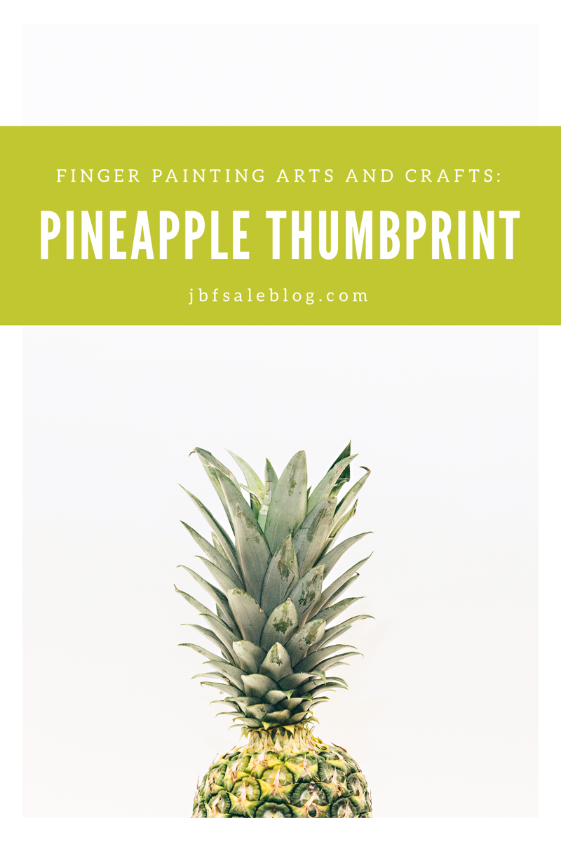 Finger Painting Arts And Crafts Pineapple Thumbprint