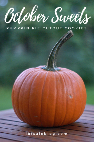 October Sweets: Pumpkin Pie Cutout Cookies