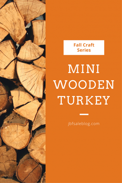 Fall Craft Series: Mini Wooden Turkey