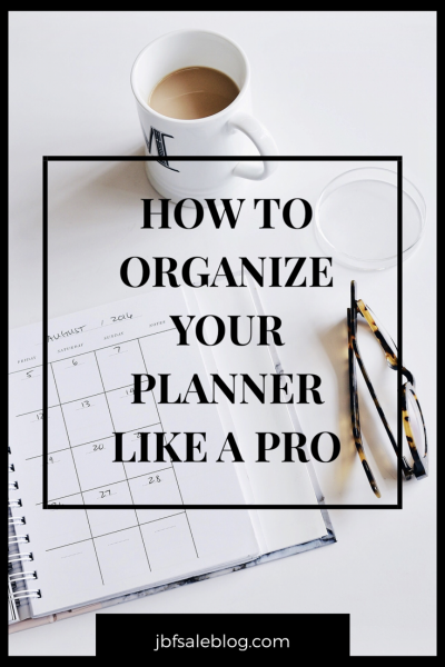 How to Organize Your Planner Like a Pro